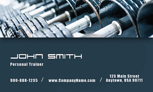 Dumbbells Fitness and Sport Business Card - Design #801101
