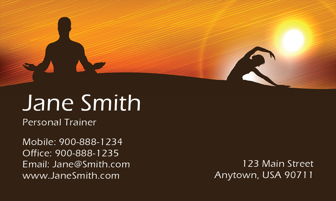 Yoga and Meditation Business Card - Design #801111
