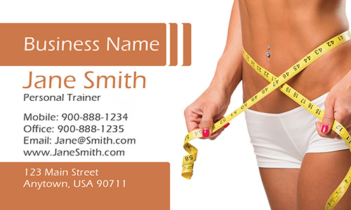 Nutrition Consultant Sport Business Card - Design #801121