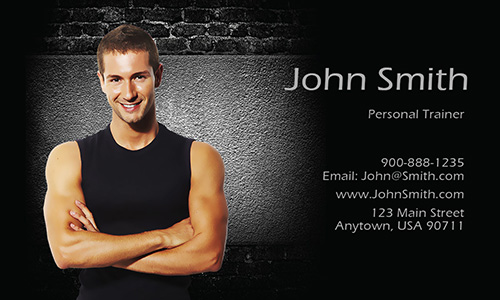 Certified Personal Trainer Business Card - Design #801141