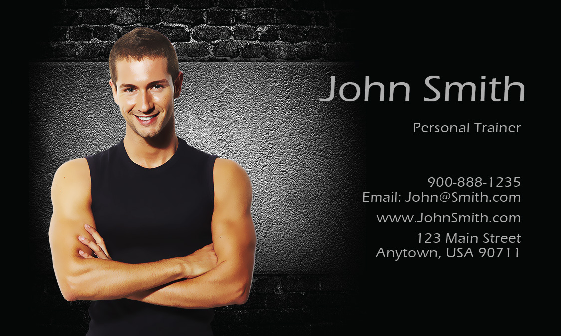 Personal Trainer Business Card Design - Fitness business card template