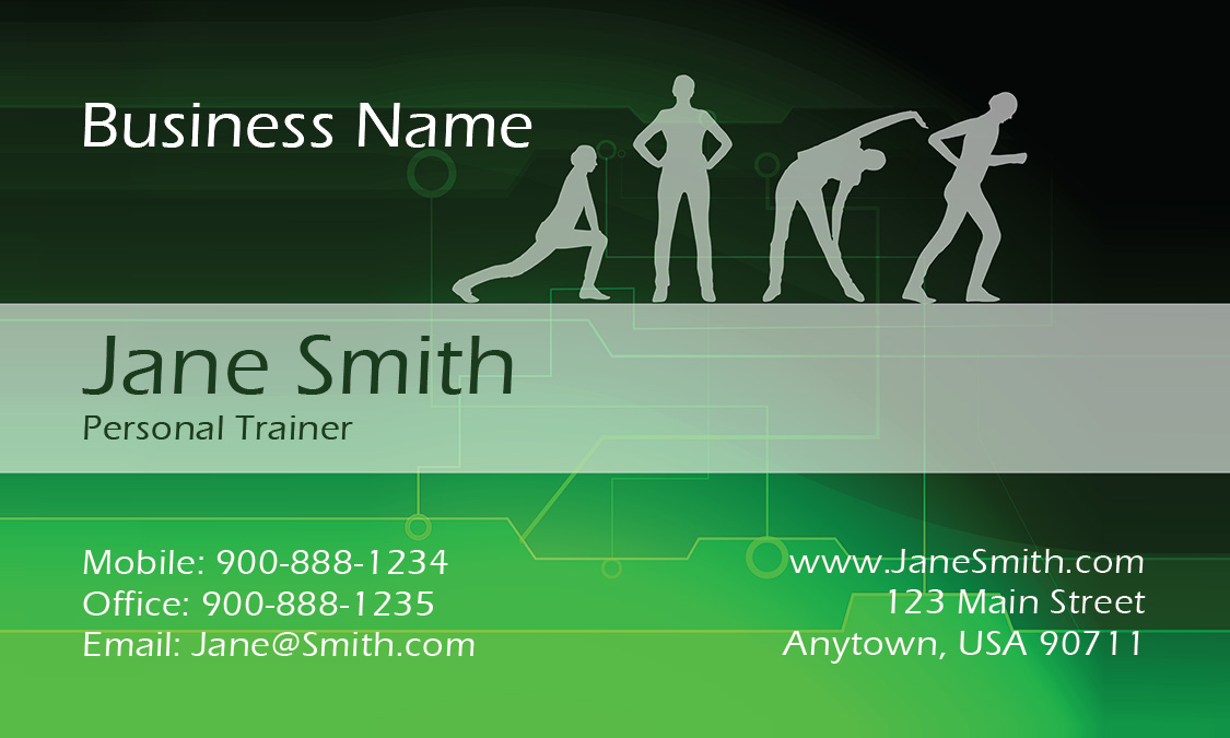 Classes Sport Fitness Business Card Design - Fitness business card template