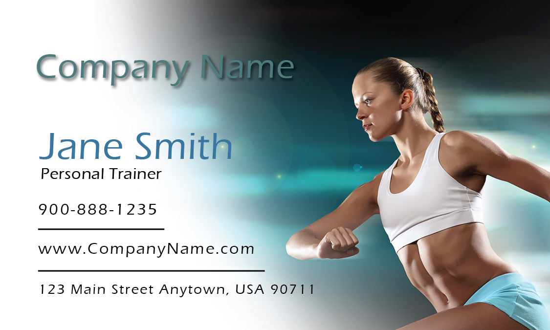 Fitness sport business cards templates runner cheaphphosting Image collections