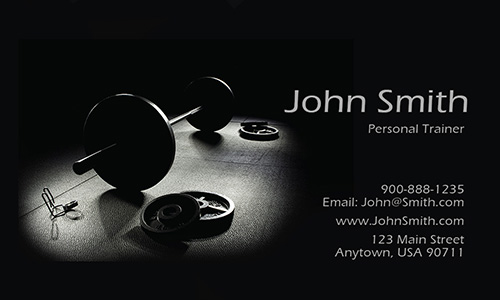 Sport Gym Themed Trainer Business Card - Design #801201