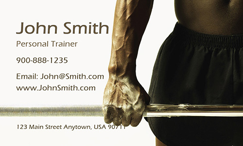 Professional Bodybuilder Fitness Business Card - Design #801231