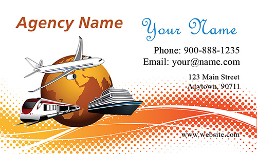 Train Ship Airplane Travel Agency Business Card - Design #901011