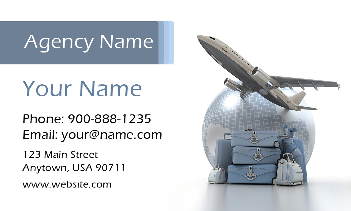 Travel Themed Tourism Business Card Design 901031