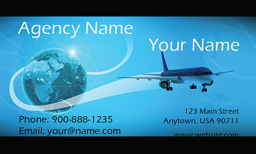 Tourism travel business cards tour agents templates airplane and globe travel agent business card design 901051 colourmoves