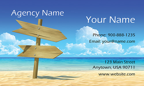 Traveller Tourism Business Card - Design #901071