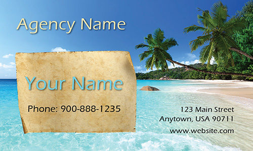 Beach Theme Tourism and Travel Business Card - Design #901151