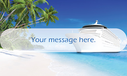 Cruise Ship Travel Agent Business Card - Design #901161