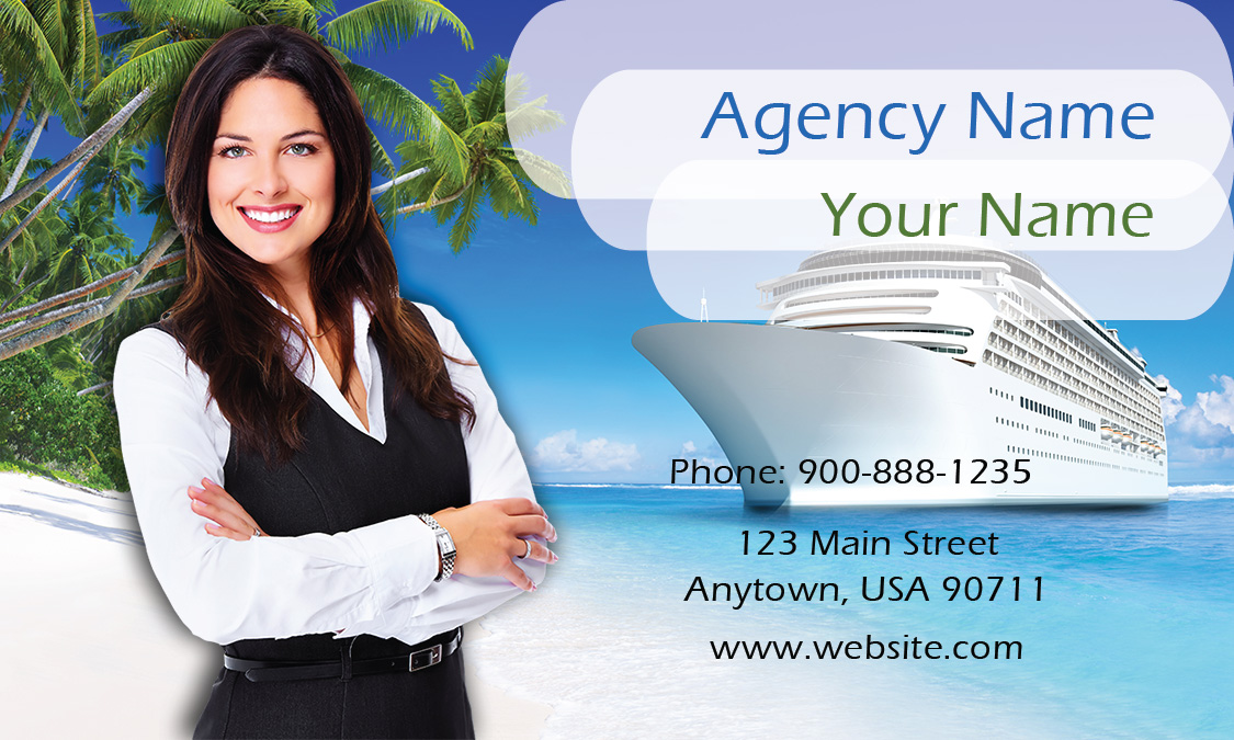 Ship Travel Agent Business Card - Design #901161