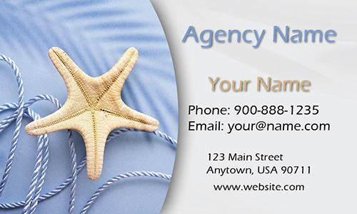 Sea Star Beach Themed Tourism Business Card - Design #901171