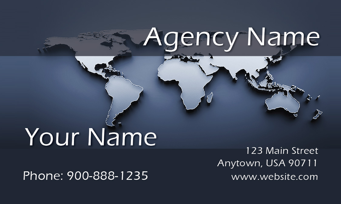 World Map Travel Business Card - Design #901201