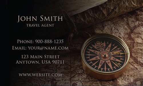 Tourism Compass Business Card - Design #901241
