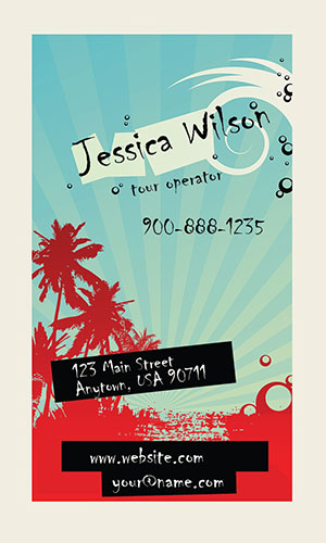 Trendy Travel Agent Business Card - Design #901271
