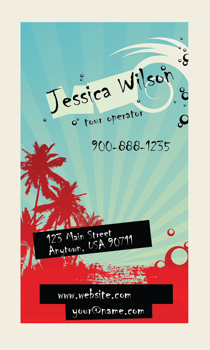 Travel Agent Business Card - Design #901271