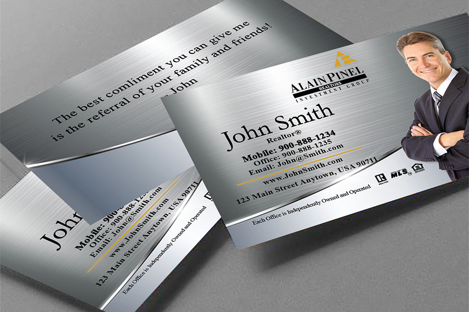 Alain Pinel Realtors Business Card Templates Online | Free Shipping