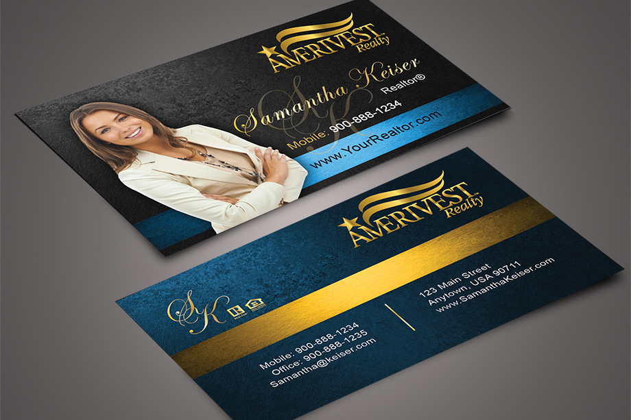 Amerivest Realty Agent Business Cards