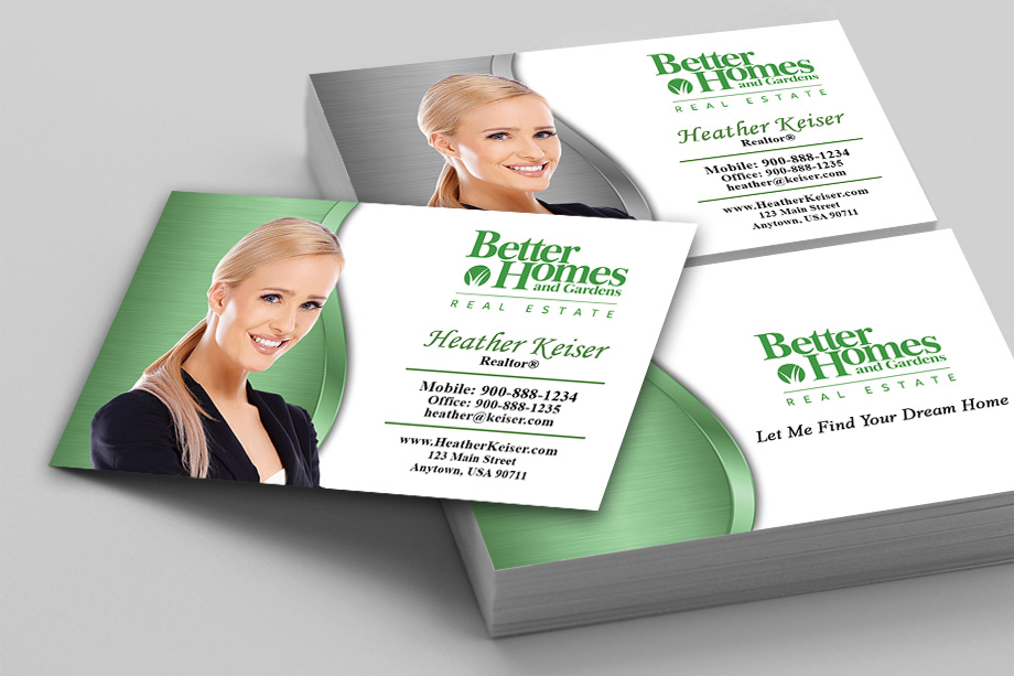 Better Homes and Gardens Real Estate Business Cards PrintifyCards