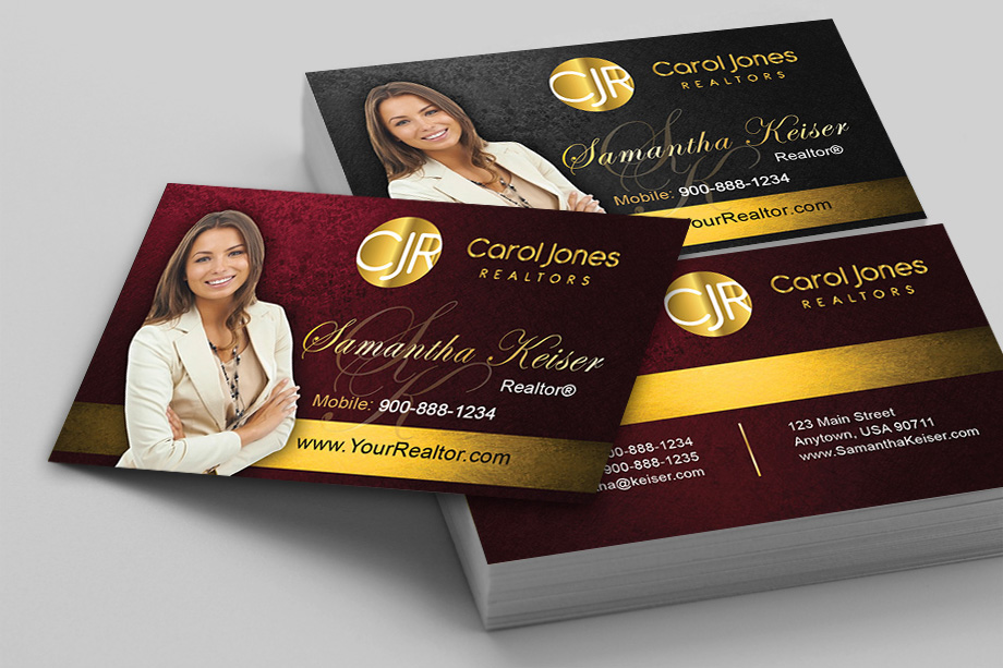Carol Jones Realtors Agent Business Cards