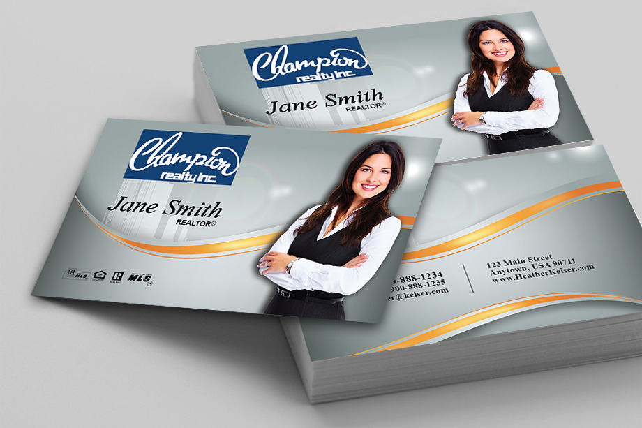 Champion Realty Agent Business Cards