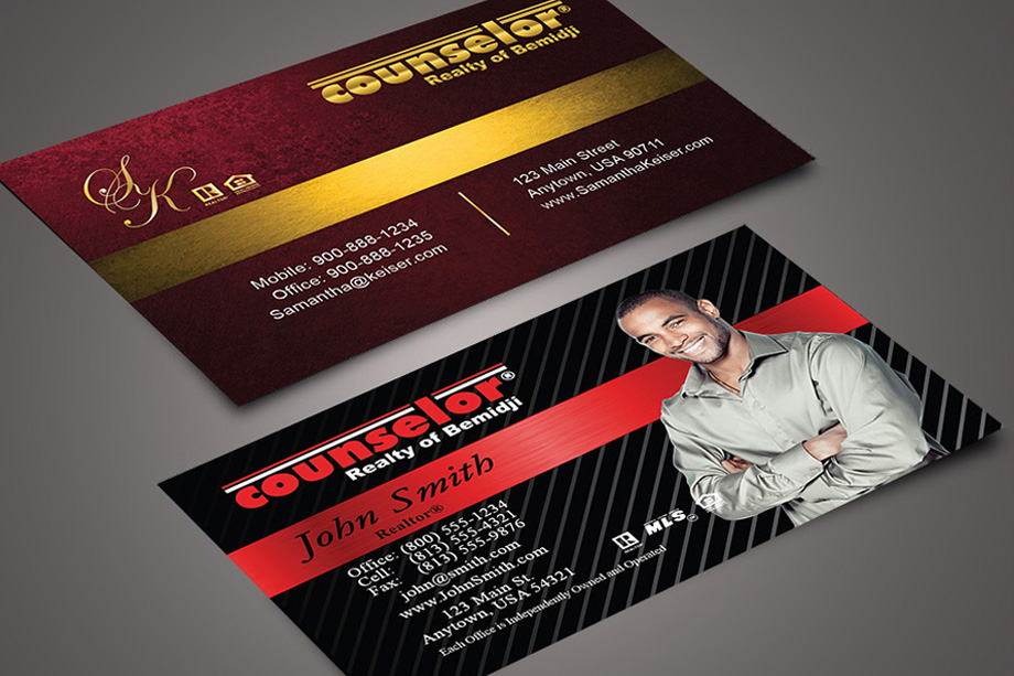 Counselor Realty of Bemidji Agent Business Cards