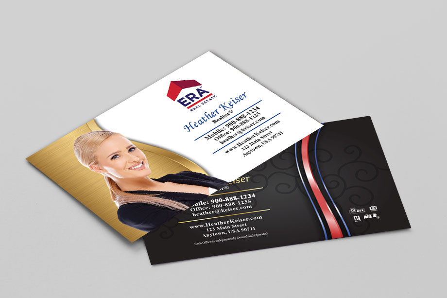 Era real estate business cards templates printifycards era real estate agent business cards wajeb Image collections