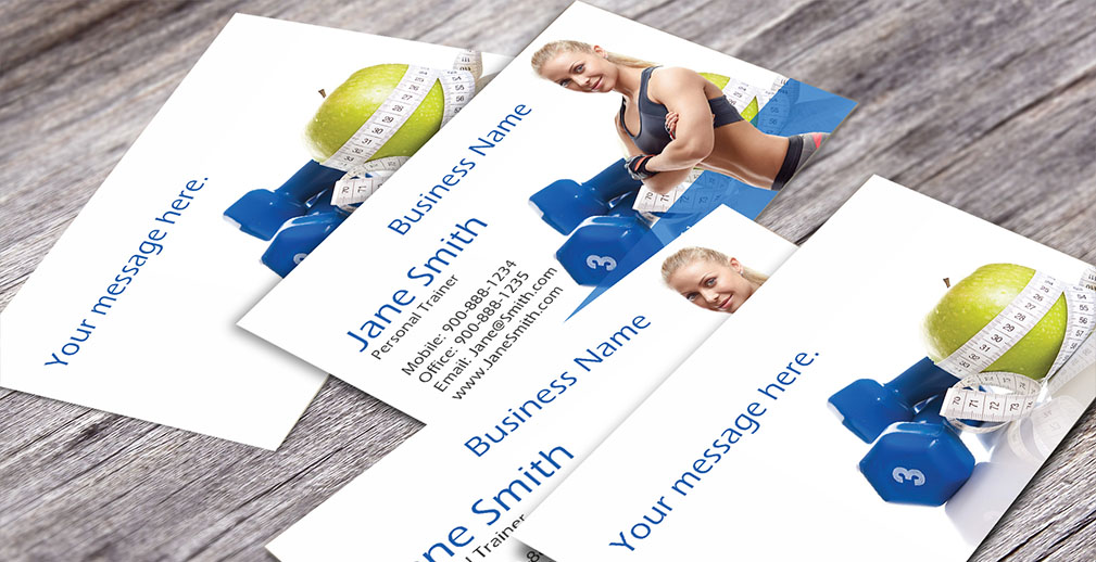 Fitness Sport Business Cards Templates - Fitness business card template