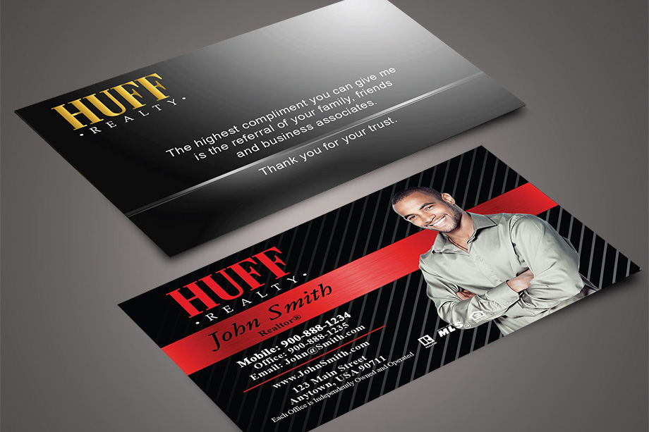 Huff Realty Agent Business Cards