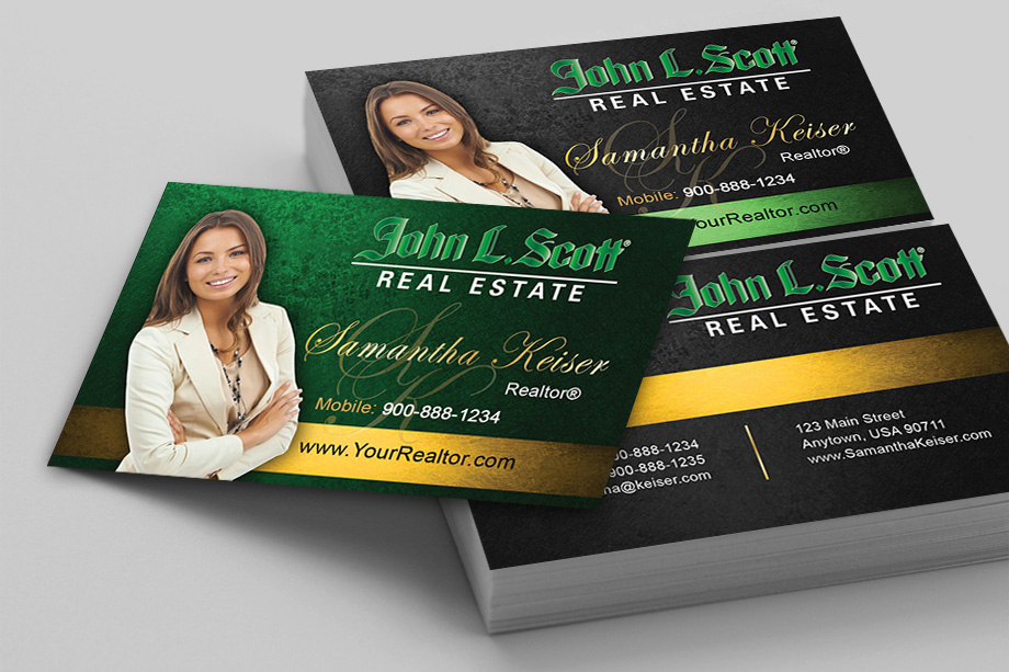 John L Scott Agent Business Cards