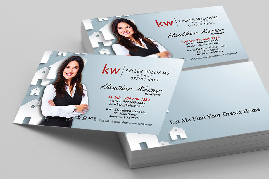 Keller Williams Realty Business Card Templates Online FREE Ship - Online business cards templates