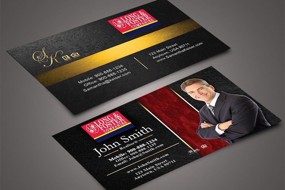 Long & Foster Agent Business Cards