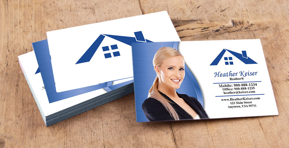 Real Estate Business Cards Online Printing Service For Realtors - Real estate business card template