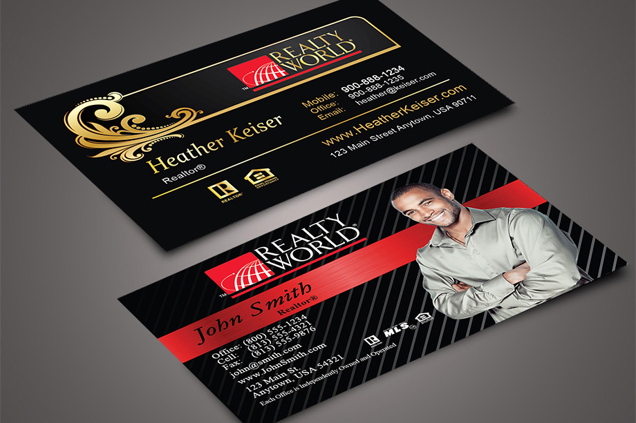 realty world agent business cards - Business Card Design Ideas