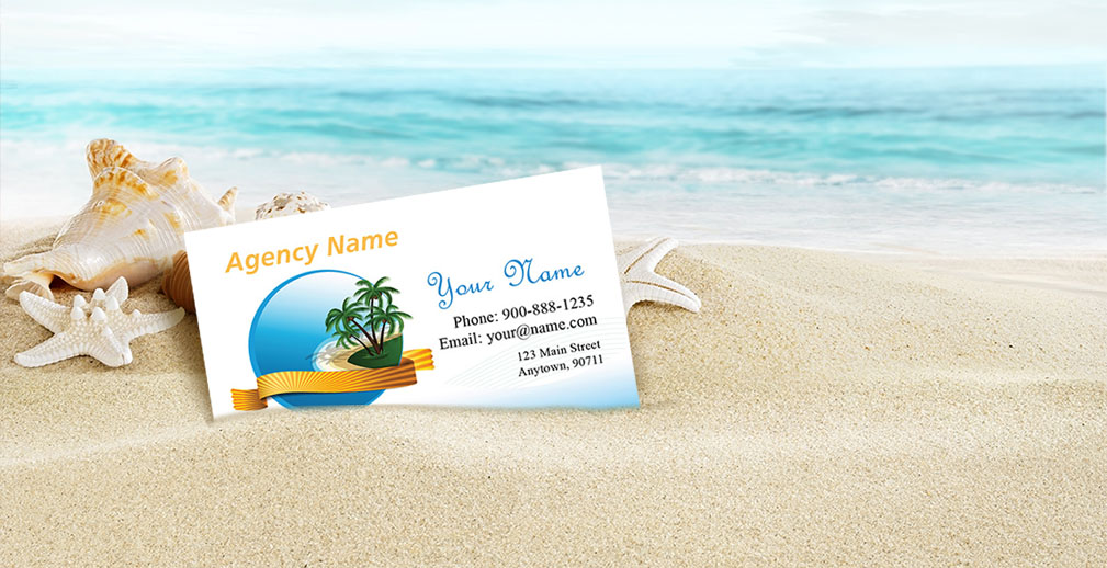 Travels Visiting Card Background