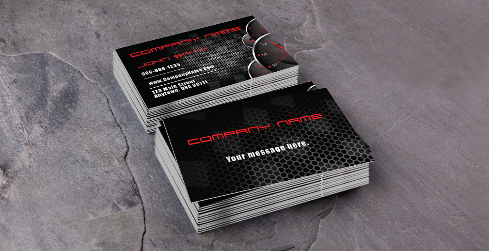 Automotive and car shop business cards car business cards colourmoves